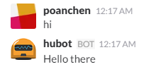 chat example for hello world version
