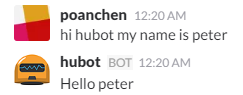 chat example for pass parameter to hubot